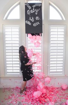 diy gender reveal confetti box tutorial