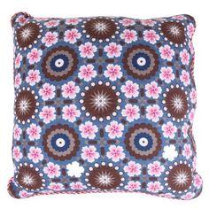 Tiles studio cushion, denim