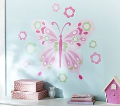 Jumbo Butterfly Decal #PotteryBarnKids