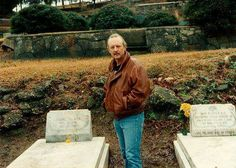 The late Butch Trucks at Duane Allman's & Berry Oakley's graves.