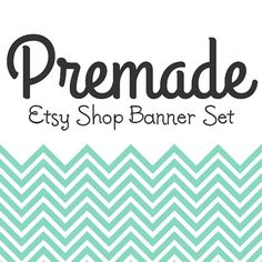 Premade Etsy Shop Banner & Avatar 9 Piece Set  Teal by cosdesign, $9.50