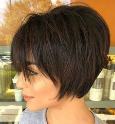 Short Wavy Haircut With Natural Roots Short Wavy Copper Red Short Texturized Bob Blue Metallic Wavy Hair Textured Pixie Cut Wavy A-Line Bob Textured Curly Pixie Undercut Wavy Bob Wavy Layered A-Line Bob Blonde Short Wavy Hair Short Sassy Haircuts, Asymmetrical Bob Haircuts, Short Hairstyles For Thick Hair, Short Hair Cuts, Curly Hair Styles, Wavy Hair, Short Thick Hair, Short Stacked Hair, Messy Short Hair