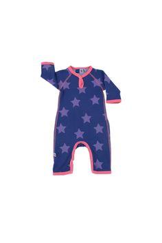 Molo Baby Purple Star Babysuit
