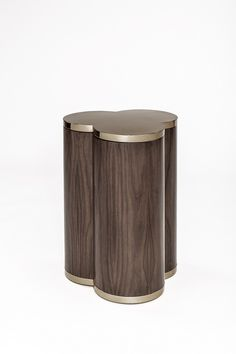 Walnut Side Table with Metal Accents DN1717