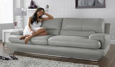 This sofa looks amazing! Sofa Bed, Couch, Fabric Sofa, Leather Fabric, Sofas, Chair, Room, House Ideas, Colour