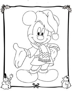 Best Free Disney Christmas Coloring Pages For Kids / All About Free Coloring Pages for Kids Disney Coloring Pages, Coloring Book Pages, Printable Coloring Pages, Coloring Pages For Kids, Kids Coloring, Natal Do Mickey Mouse, Mickey Mouse Christmas, Disney Christmas, Christmas Diy
