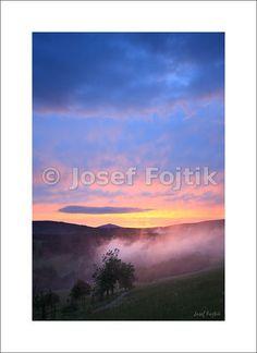 Fine Art Photography Print on a high-end photo paper - Krkonose Mountains from Alberice, Snezka Mountain on the horizon, Czech Republic