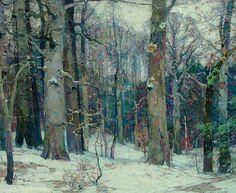 John Fabian Carlson (USA 1874-1947)  Forest Silence (1917) oil on canvas 119.4 x 144.8 cm