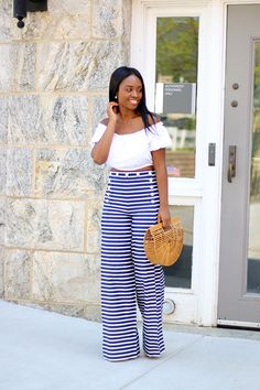 |OUTFIT|   ::   Top : ( here ) love this ( here )   Pants : J Crew ( here )   Bag : Cult Gaia ( here ) Love this style ( here )   Shoes...