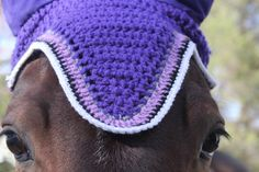 Whether you compete and would like an extra accessory to add a dash of color to your tack set or just want to make your horse feel like the king or queen that they are, we have the bonnet for you! Situated in northern New Jersey, we are able to only ship nationally at this time. Please inquire about international. Each bonnet is hand crocheted with love! Beautiful show style purple horse fly bonnet! Great for eventing or jumper shows or to complete your current tack set. This listing is for…