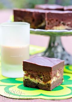 Irish Car Bomb Brownies from @Sommer | A Spicy Perspective