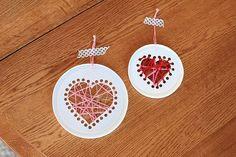 Yogurt lid sewing cards