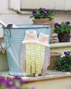 Magnetizing garden gloves ensures you never lose them