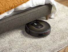 Roomba 980 – Vacuum Cleaning Robot by iRobot One push of a button is enough to activate the Roomba 980 to clean the floors of your entire house. The robot has been programmed to navigate through your entire house and keeps track of your location as well as recharge itself whenever necessary.