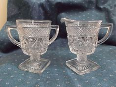 Imperial Glass Cape Cod Pattern Sugar Creamer Footed Vintage from saltymaggie on Ruby Lane