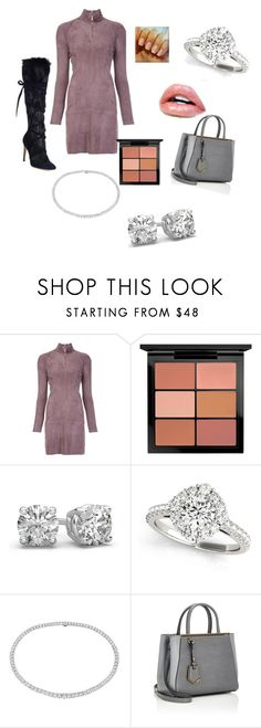 """business"" by girlwinx on Polyvore featuring Jitrois, MAC Cosmetics, Blue Nile, Fendi and Gianvito Rossi"