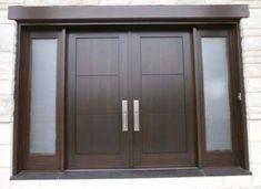Best Ideas For Double Door Design Modern Entrance Wooden Front Doors, Front Door Entrance, Door Entryway, House Front Door, Wood Entry Doors, House Doors, Front Entry, Double Front Doors, Entrance Ideas