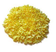 Yellow Shaggy Rug