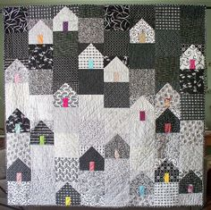 love it. house quilt - I could see this in Christmas fabrics....