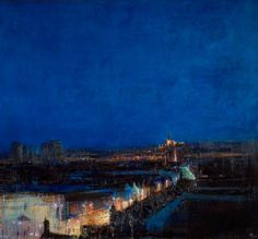 Walsall, Looking towards St Matthew's Church - Andrew Gifford , 1999 British, b.1970- Oil on canvas, 110 x 120 cm