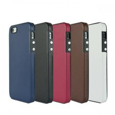 Fashion Leather Hard Protective Case Cover for iPhone 5 Multicolor