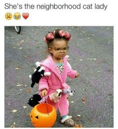 Kid's crazy neighborhood cat lady costume, funny costume,Best Halloween costumes for kids, DIY kids costumes, easy kids costumes to make, adorable and cute Halloween costumes for toddlers and infants, Halloween party ideas