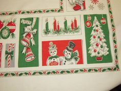 atomic tablecloth | Vintage CHRISTMAS Tablecloth Santa Reindeer & by unclebunkstrunk, $64 ...