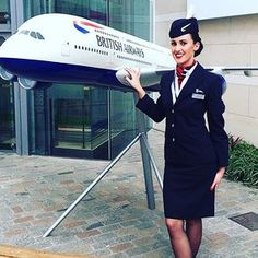 The most stressful 7 weeks of my life but I made it & I'm officially an Air Hostess! Dream come true. Can't wait to travel the world ✈️ Trolley Dolly, Come Fly With Me, British Airways, Cabin Crew, Red Hats, Flight Attendant, Dresses For Work, Glamour, Beautiful