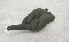 John Isaacs - From a distance you look smaller...but I know that you are there, 2008, bronze
