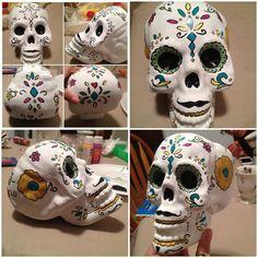 Hand painted sugar skull  Made bye me :)
