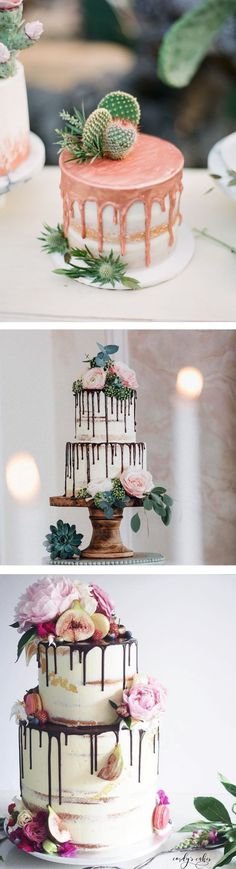 One of the latest (and tastiest) crazes to hit the dessert world is the drip cake. #weddingcakes