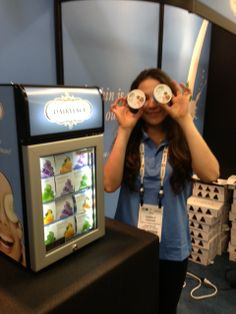 Showing off Dairyface at Natural Products Expo West