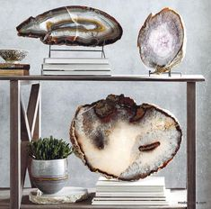 Roost Crystal Slabs Mineral Stand Modish Store - Roost Crystal Slabs Mineral Stand Top Grade Giant Quartz Boulders Are Cut Into These Extra Thick Slabs With Highly Polished Faces And Natural Edges Each Piece Reveals Unique Crystalline Format Cute Dorm Rooms, Cool Rooms, Home Decor Accessories, Decorative Accessories, Unique Home Decor, Diy Home Decor, Do It Yourself Decoration, Do It Yourself Home, Home Renovation