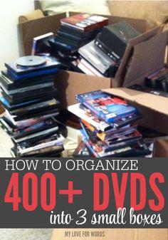 dvd movie storage on pinterest dvd storage solutions dvd organization and organize dvds. Black Bedroom Furniture Sets. Home Design Ideas