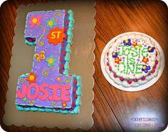 1st Birthday #1 Cake for Girl