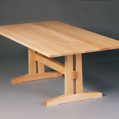 Trestle style solid maple dining table seats eight comfortably. Diy Dining Room Table, Trestle Dining Tables, Dining Table Design, Wooden Tables, A Table, Diy Furniture Plans, Woodworking Furniture, Dining Furniture, Woodworking Apron