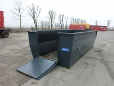 A large 15 m³ waste container for collection horse manure. This skip can be adjusted with a metal cover.  More info: http://www.mestcontainer.com