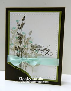 {the lakeshore stamper}: Trio of Sympathy Cards