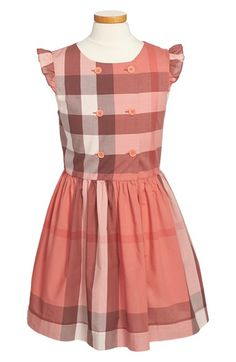 Burberry+'Phoebe'+Check+Print+Dress+(Little+Girls+&+Big+Girls)+available+at+#Nordstrom