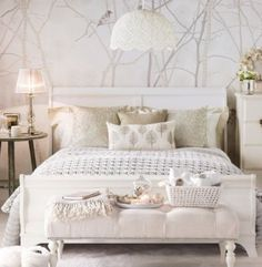 Neutral Bedroom paint wall mural