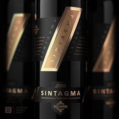 Packaging Design for Sintagma Premium Wine Wine Packaging, Food Packaging Design, Packaging Design Inspiration, Wine Label Design, Bottle Design, Flower Shop Design, Wine Bottle Labels, Cabernet Sauvignon, Whisky
