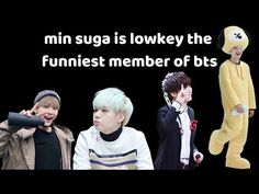 min suga is lowkey the funniest member of bts Bts Youtube, Agust D, Min Suga, Bts Members, Hilarious, Funny, Bands, Movie Posters, Army