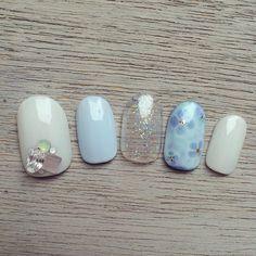 花柄ネイルシリーズ❀あじさいネイル50選&紫陽花ネイルやり方動画❀   Jocee