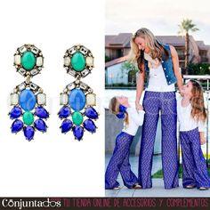 Los #pendientes Claudia son unos espectaculares #accesorios para ir #elegante a cualquier parte, tanto de día como de noche ★ Precio: 13,95 € en http://www.conjuntados.com/es/pendientes-de-cristales-claudia.html ★ #novedades #earrings #joyitas #jewelry #bisutería #bijoux #complementos #moda #fashion #estilo #style #GustosParaTodas #ParaTodosLosGustos