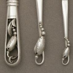 Detail: George Jensen 'Blossom' pattern Sterling c1919