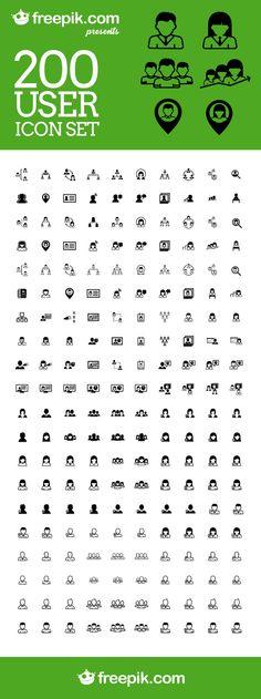 Free Download: 200 User Icon Set From Freepik