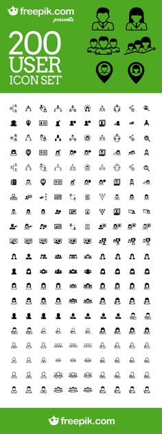 Free Download: 200 User Icon Set From Freepik