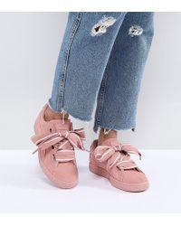 711332caa89e PUMA | Suede Heart Sneakers In Pink | Lyst Chaussure Puma, Prendre, Tenue,