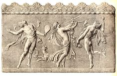 Maenads dance and play music