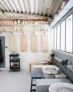 Grégoire Scalabre and Pia Van Peteghem - Inside Closet Art Studio Decor, Art Studio Design, Art Studio At Home, Painting Studio, Studio Shed, Workshop Studio, Clay Studio, Ceramic Studio, Dream Studio